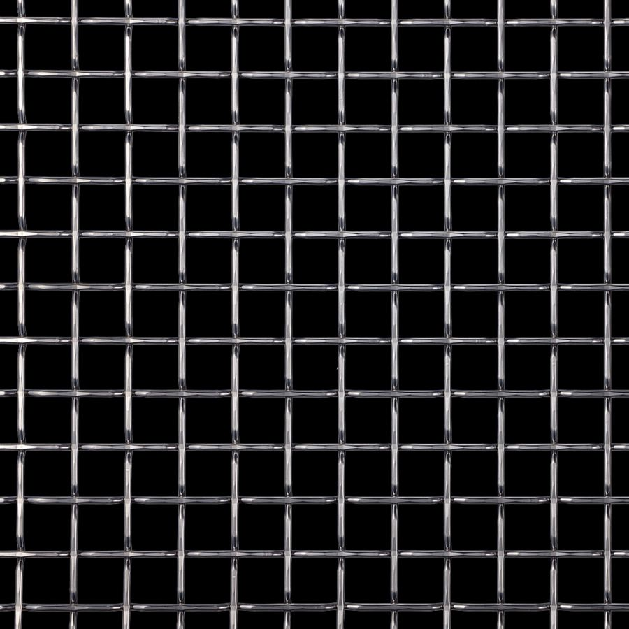 McNICHOLS® Wire Mesh Designer Mesh, TECHNA™ 8168, Carbon Steel, Cold Rolled, Woven - Flat Top Weave, 74% Open Area