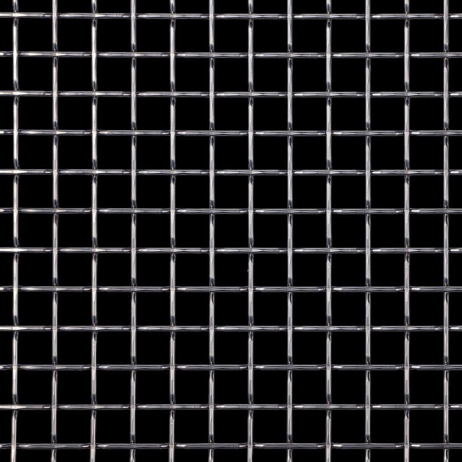 McNICHOLS® Wire Mesh Designer Mesh, TECHNA™ 8168, Carbon Steel (CS), Cold Rolled, Woven - Flat Top Weave, 74% Open Area