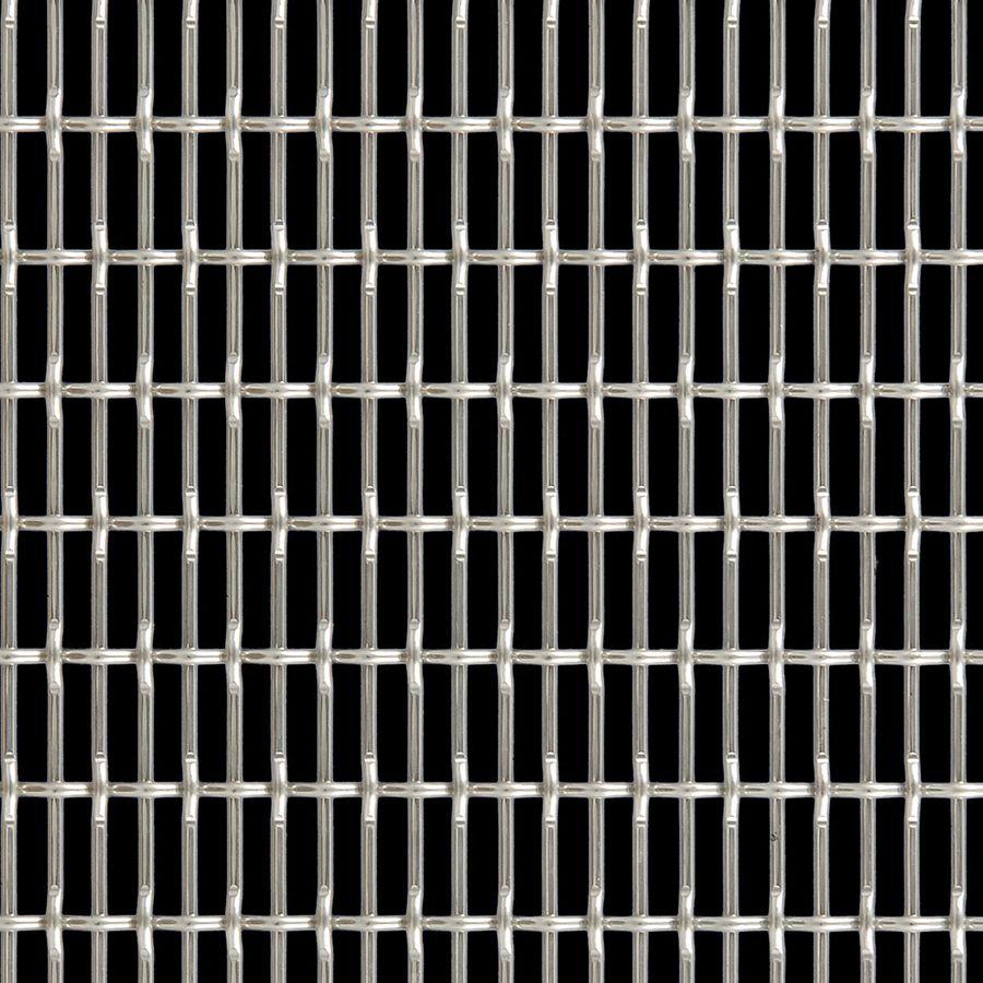 McNICHOLS® Wire Mesh Designer Mesh, CHATEAU™ 3105, Aluminum (AL), Type 1350-H19, Woven - Flat Top/Plain Weave, 58% Open Area