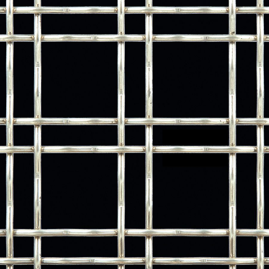 McNICHOLS® Wire Mesh Designer Mesh, TECHNA™ 3150, Aluminum, Alloy 1350-H19, Woven - Double Wire Intercrimp Weave, 74% Open Area