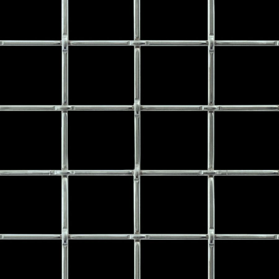 McNICHOLS® Wire Mesh Designer Mesh, TECHNA™ 8160, Aluminum, Alloy 1350-H19, Woven - Lock Crimp Weave, 82% Open Area