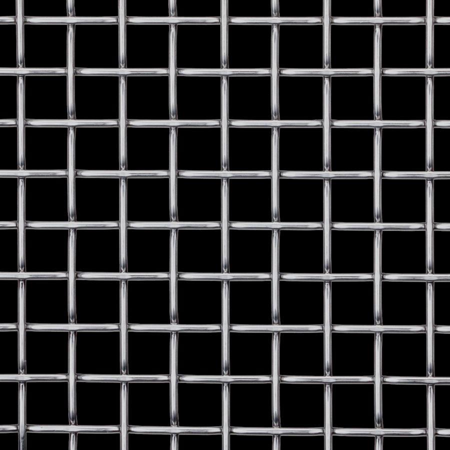 McNICHOLS® Wire Mesh Designer Mesh, TECHNA™ 8165, Aluminum, Alloy 1350-H19, Woven - Flat Top Weave, 70% Open Area