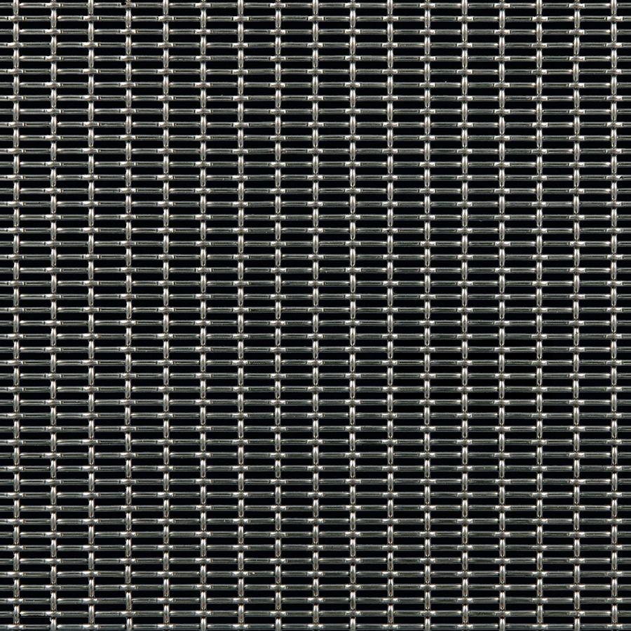 McNICHOLS® Wire Mesh Designer Mesh, SHIRE™ 2105, Stainless Steel (SS), Type 304, Woven - Lockcrimp/Plain Weave, 44% Open Area