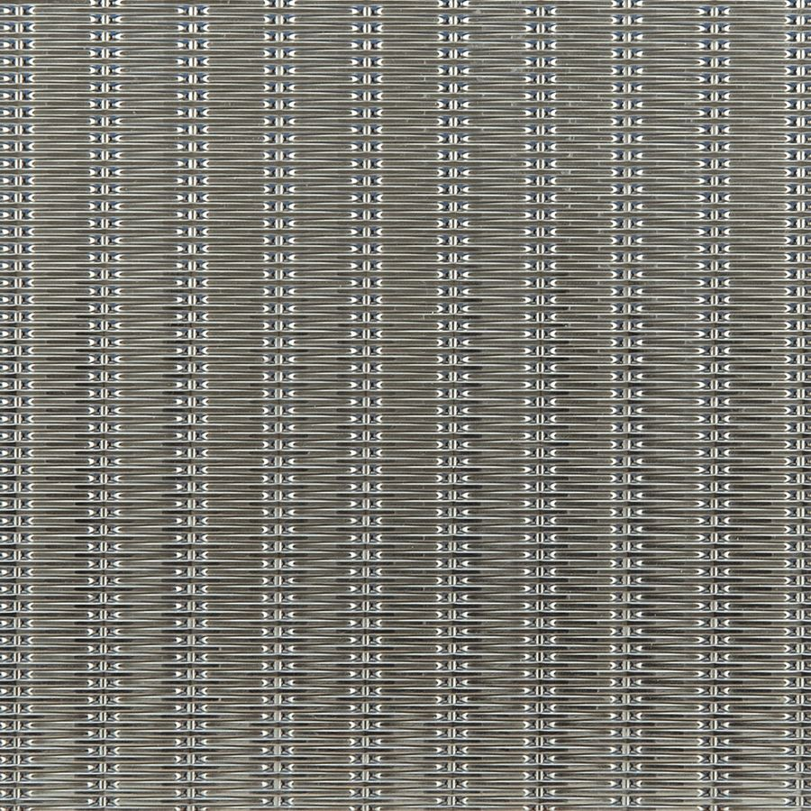 McNICHOLS® Wire Mesh Designer Mesh, SHIRE™ 2130, Stainless Steel, Type 304, Woven - Flat Top Cladding Weave, 0% Open Area