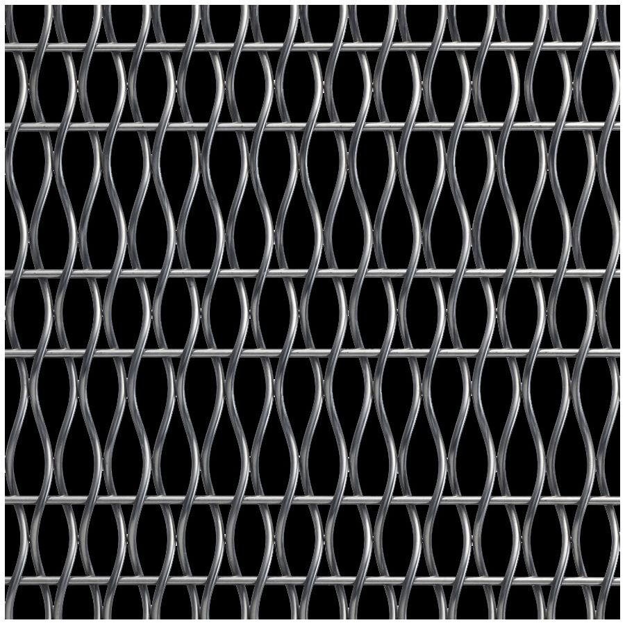 McNICHOLS® Wire Mesh Designer Mesh, HALO™ 2156, Stainless Steel, Type 304, Woven - Helical (Spiral) Crimp Weave, 57% Open Area