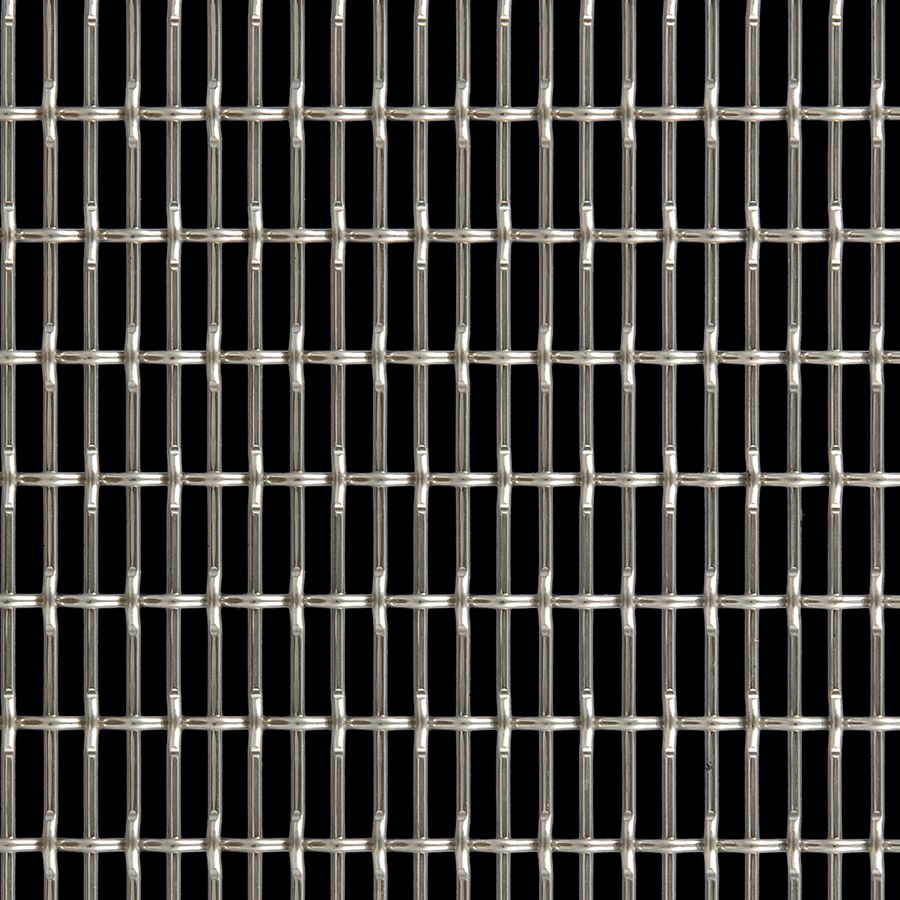McNICHOLS® Wire Mesh Designer Mesh, CHATEAU™ 3105, Stainless Steel, Type 304, Woven - Flat Top/Plain Weave, 58% Open Area