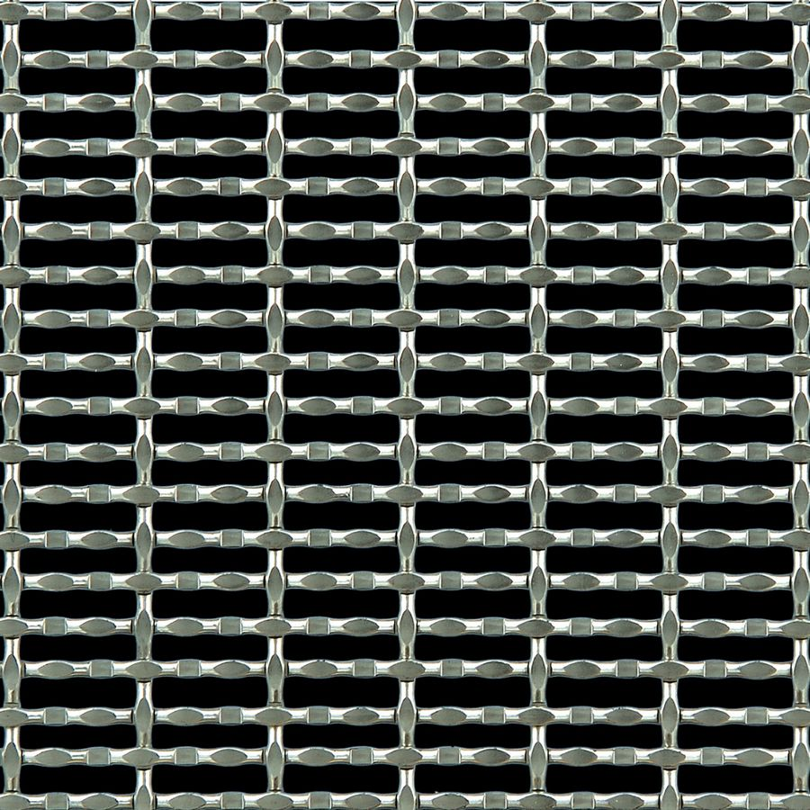 McNICHOLS® Wire Mesh Designer Mesh, CHATEAU™ 3115, Stainless Steel, Type 304, Woven - Modified Intercrimp/Plain Weave, 56% Open Area