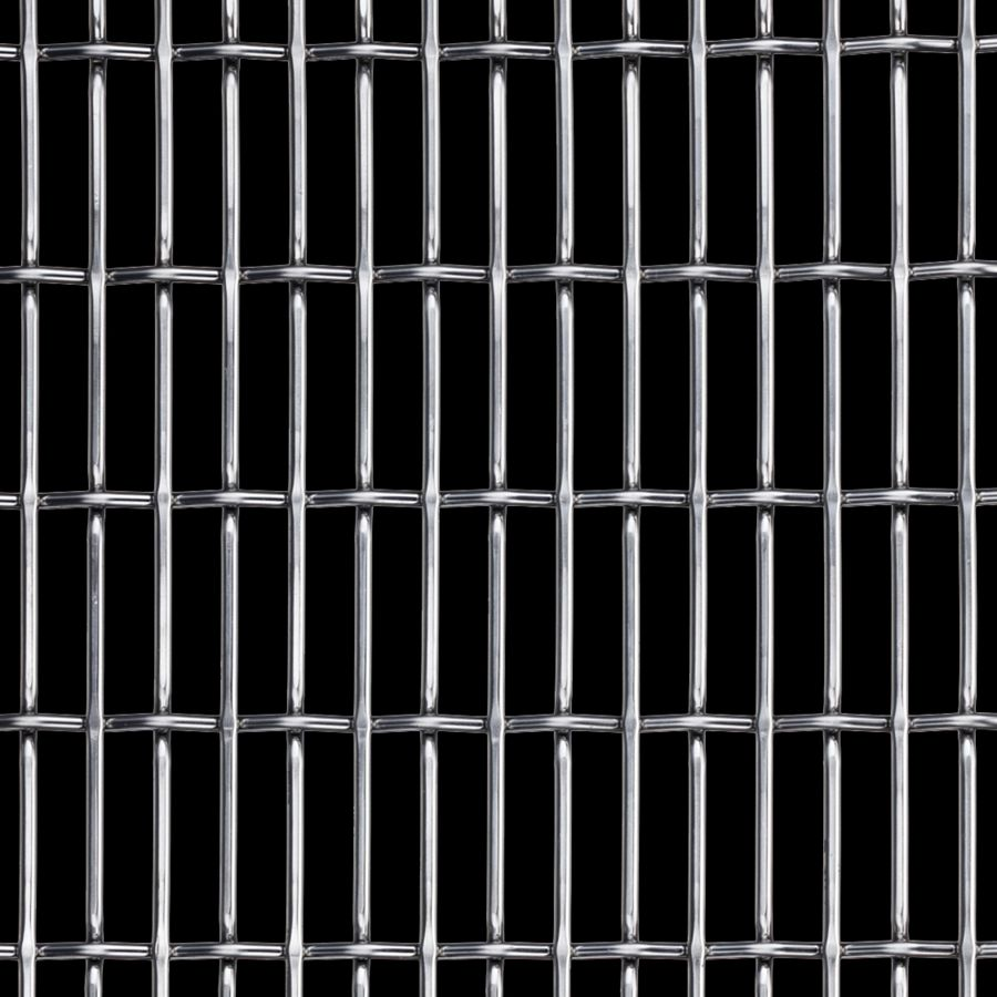 McNICHOLS® Wire Mesh Designer Mesh, CHATEAU™ 3120, Stainless Steel, Type 304, Woven - Flat Top/Plain Weave, 66% Open Area