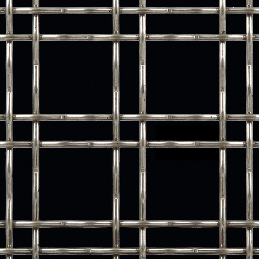 McNICHOLS® Wire Mesh Designer Mesh, TECHNA™ 3150, Stainless Steel, Type 304, Woven - Double Wire Intercrimp Weave, 74% Open Area