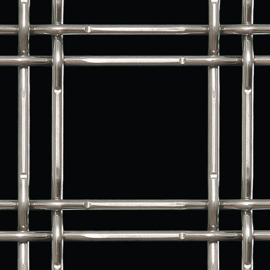 McNICHOLS® Wire Mesh Designer Mesh, TECHNA™ 3155, Stainless Steel, Type 304, Woven - Lock Crimp Weave, 75% Open Area