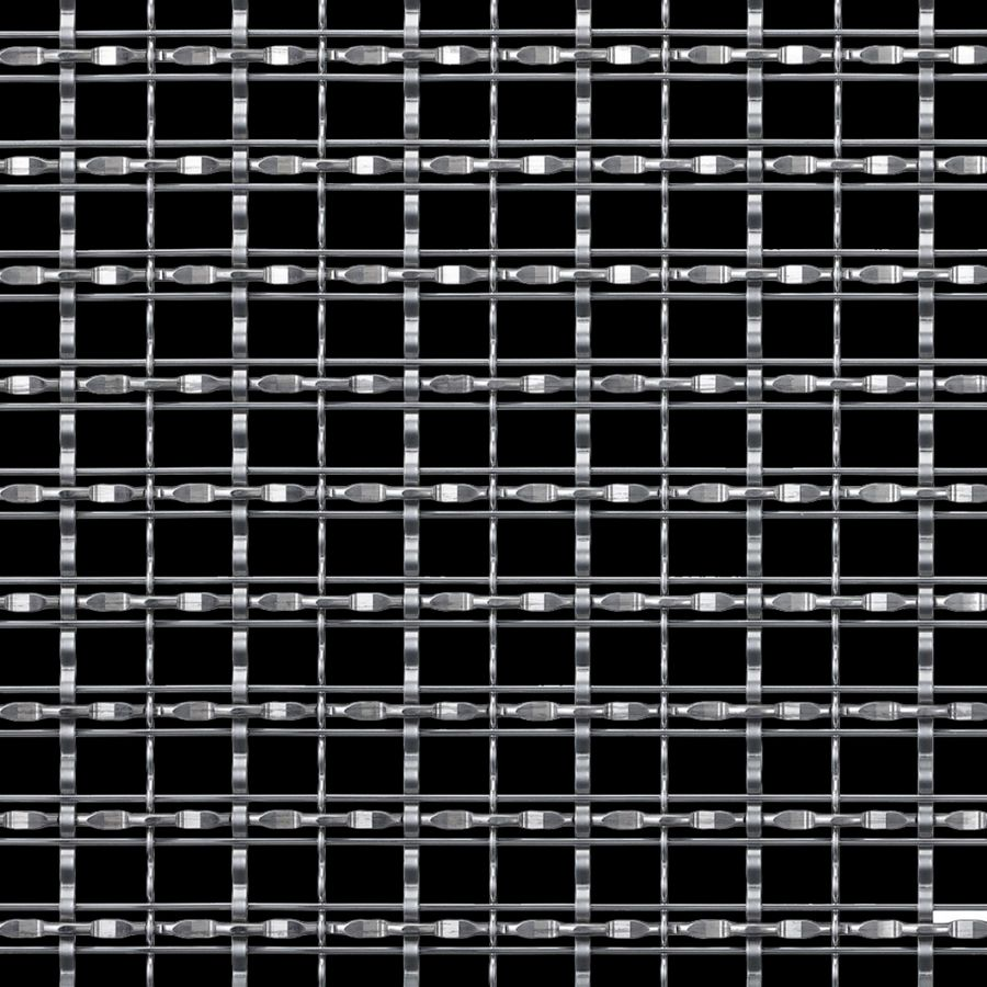 McNICHOLS® Wire Mesh Designer Mesh, TECHNA™ 3156, Stainless Steel, Type 304, Woven - Four Crimp Styles Weave, 61% Open Area