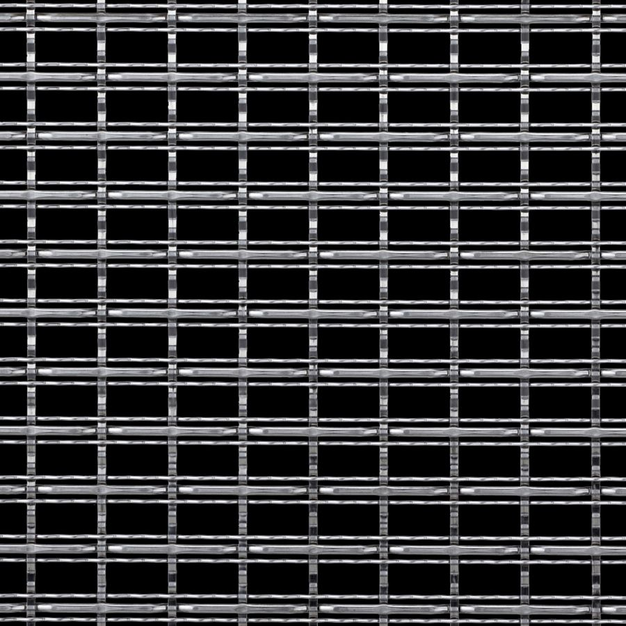 McNICHOLS® Wire Mesh Designer Mesh, TECHNA™ 3162, Stainless Steel, Type 304, Woven - Three Crimp Styles Weave, 60% Open Area