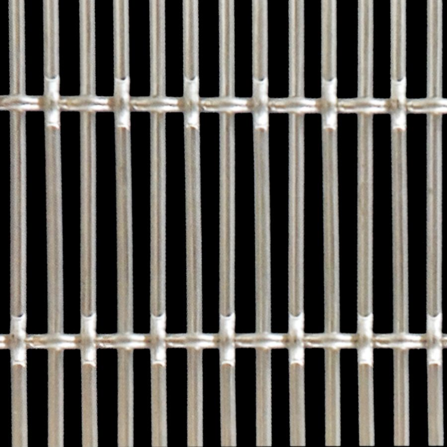 McNICHOLS® Wire Mesh Designer Mesh, SHIRE™ 4391, Stainless Steel, Type 304, Woven - Flat Top Weave, 52% Open Area