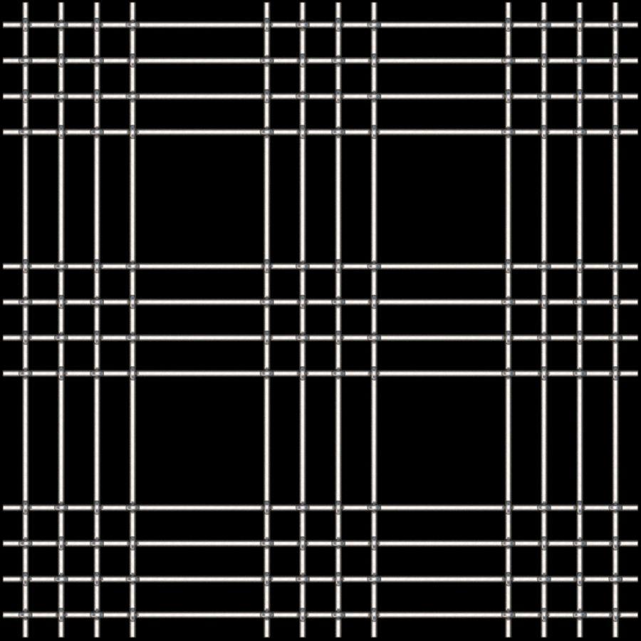 McNICHOLS® Wire Mesh Designer Mesh, CREMONA™ 4410, Stainless Steel, Type 304, Woven - Lock Crimp Weave, 80% Open Area