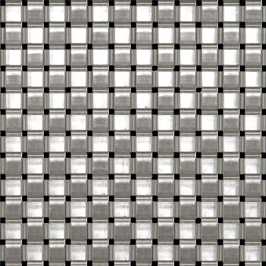 McNICHOLS® Wire Mesh Designer Mesh, ASHLAND™ 8016, Stainless Steel, Type 304, Woven - Flat Wire Plain Weave, 6% Open Area