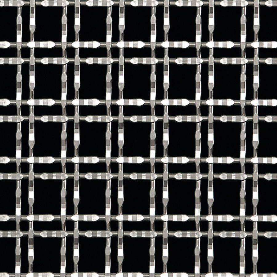 McNICHOLS® Wire Mesh Designer Mesh, TALICA™ 8146, Stainless Steel, Type 304, Woven - Twin Wire Flat Top Weave, 61% Open Area
