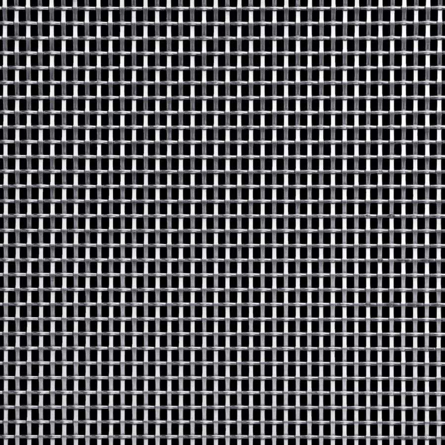 McNICHOLS® Wire Mesh Designer Mesh, SHIRE™ 8148, Stainless Steel, Type 304, Woven - Flat Warp/Round Fill Weave, 41% Open Area