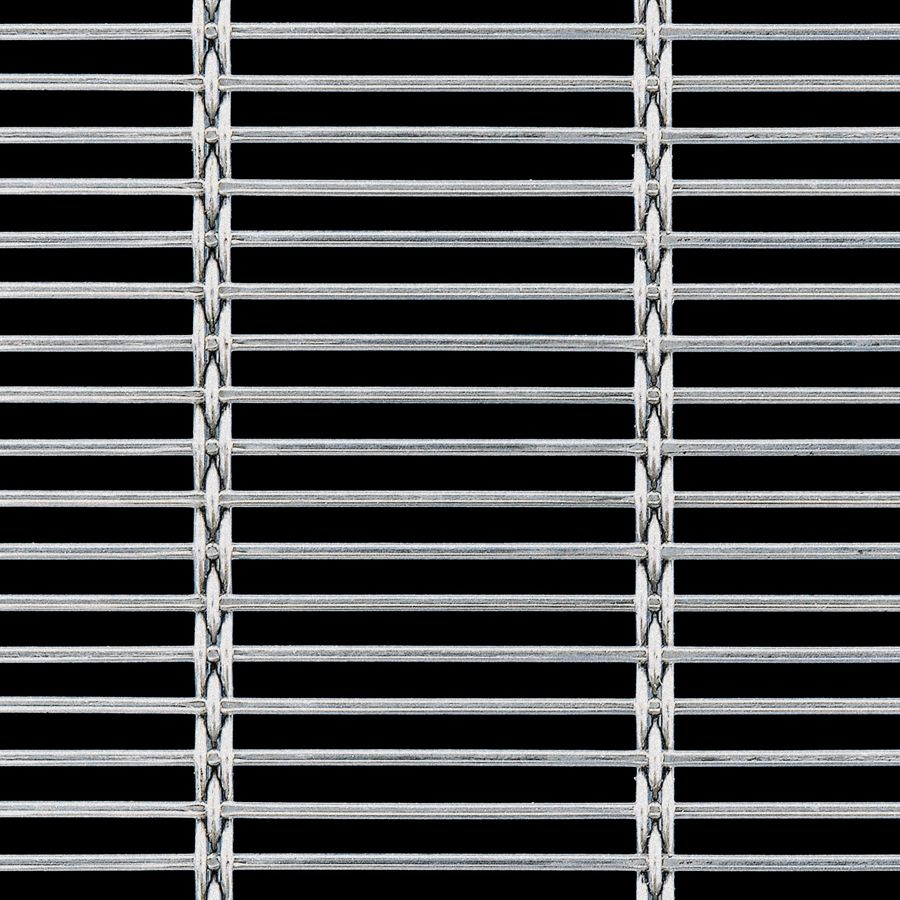 McNICHOLS® Wire Mesh Designer Mesh, AURA™ 8155, Stainless Steel (SS), Type 304, Woven - Rigid Cable-Style Weave, 62% Open Area