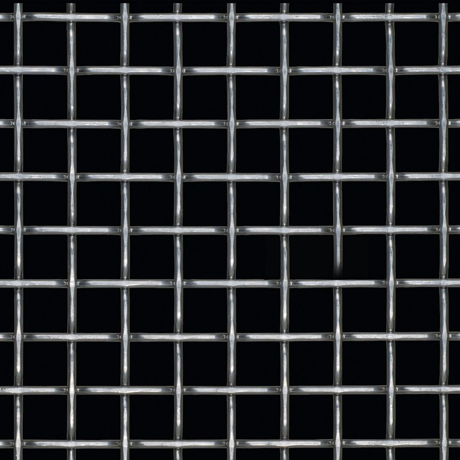 McNICHOLS® Wire Mesh Designer Mesh, TECHNA™ 8165, Stainless Steel, Type 304, Woven - Flat Top Weave, 70% Open Area