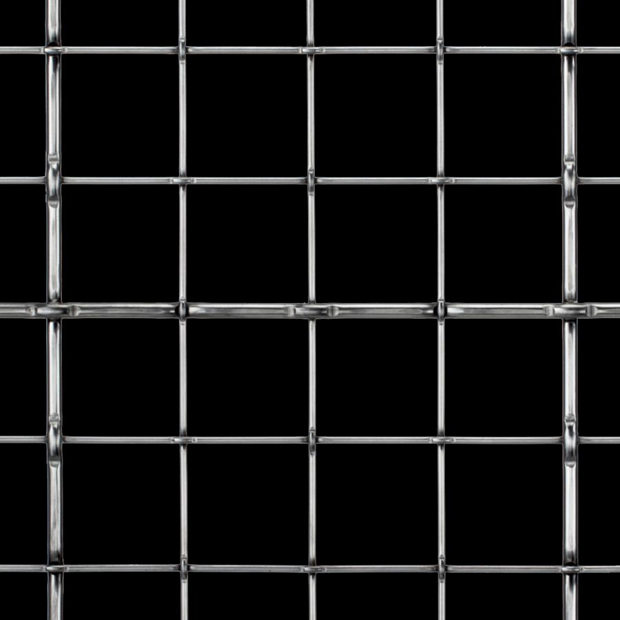 McNICHOLS® Wire Mesh Designer Mesh, TECHNA™ 8166, Stainless Steel (SS), Type 304, Woven - Lockcrimp Weave, 85% Open Area