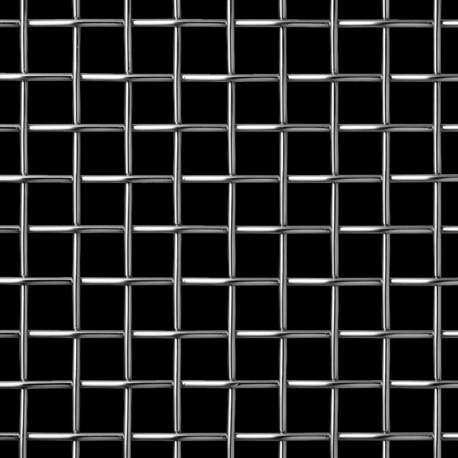 McNICHOLS® Wire Mesh Designer Mesh, TECHNA™ 8171, Stainless Steel, Type 304, Woven - Plain Weave, 70% Open Area