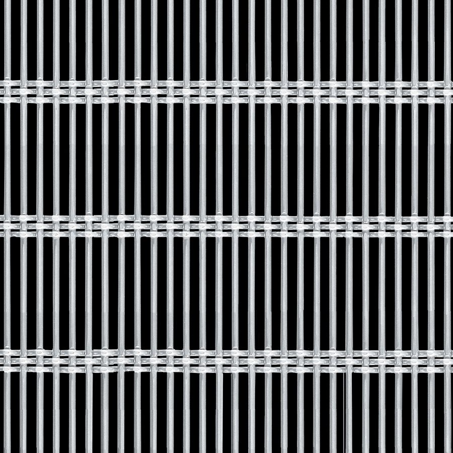 McNICHOLS® Wire Mesh Designer Mesh, AURA™ 8856, Stainless Steel, Type 304, Woven - Rigid Cable-Style Weave, 42% Open Area