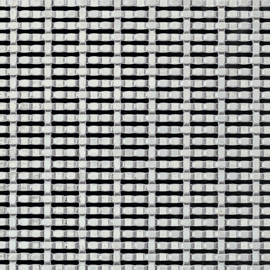 McNICHOLS® Wire Mesh Designer Mesh, CHATEAU™ 8861, Stainless Steel, Type 304, Woven - Intercrimp/Plain Weave, 27% Open Area