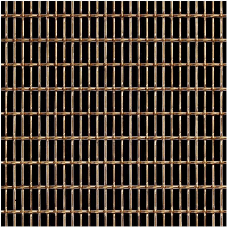 McNICHOLS® Wire Mesh Designer Mesh, CHATEAU™ 3125, Brass, Brass Alloy, Woven - Lockcrimp/Plain Weave, 59% Open Area