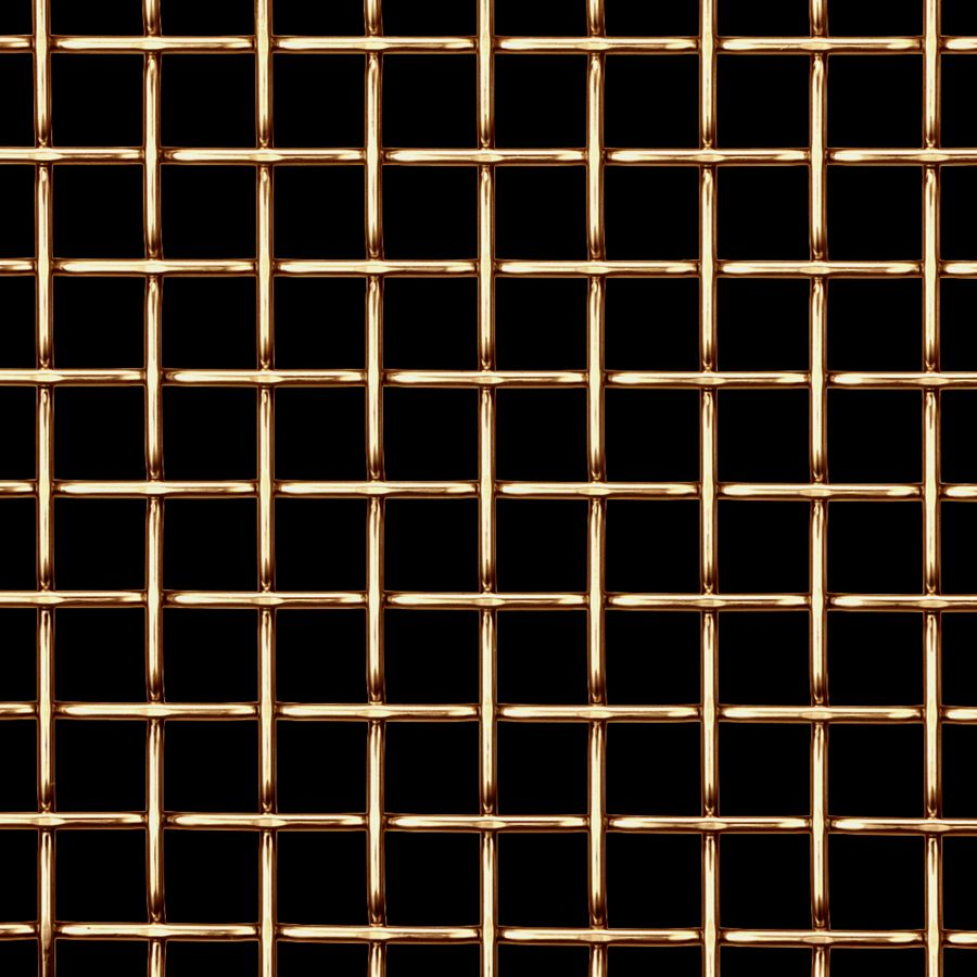 McNICHOLS® Wire Mesh Designer Mesh, TECHNA™ 8165, Brass, Brass Alloy, Woven - Flat Top Weave, 70% Open Area
