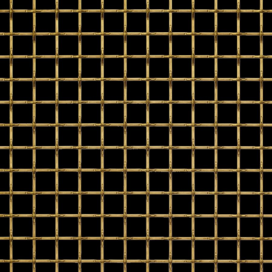 McNICHOLS® Wire Mesh Designer Mesh, TECHNA™ 8168, Brass, Brass Alloy, Woven - Flat Top Weave, 74% Open Area