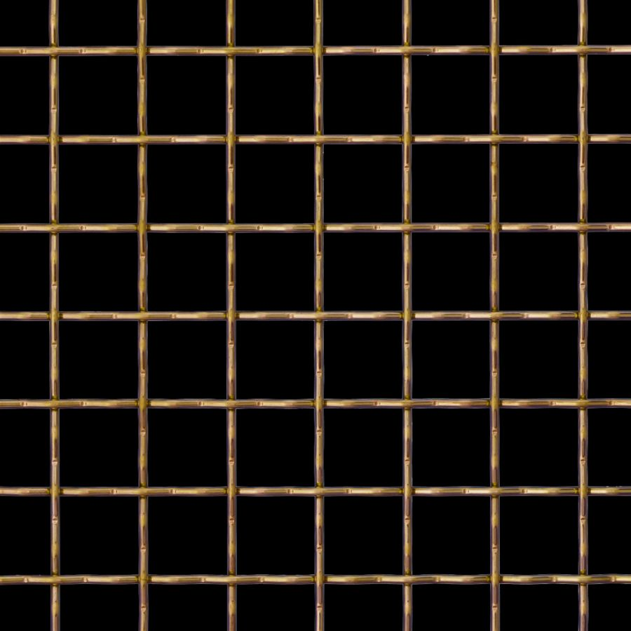 McNICHOLS® Wire Mesh Designer Mesh, TECHNA™ 8169, Brass (BRS), Brass Alloy, Woven - Intercrimp Weave, 74% Open Area