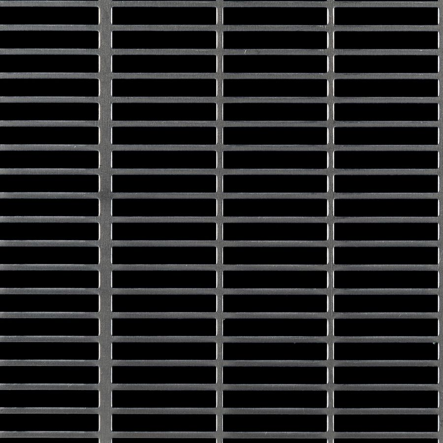 "McNICHOLS® Perforated Metal Designer Perforated, Slotted, AIRLINE 1668, Carbon Steel, Cold Rolled, 16 Gauge (.0598"" Thick), 1-1/2"" x 1/4"" Square-End Slot, Straight Centers, 68% Open Area"