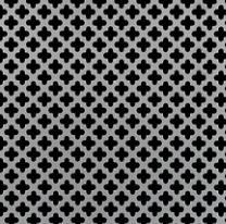 Mcnichols Perforated Metal Designer Full Cloverleaf Carbon Steel Cold Rolled