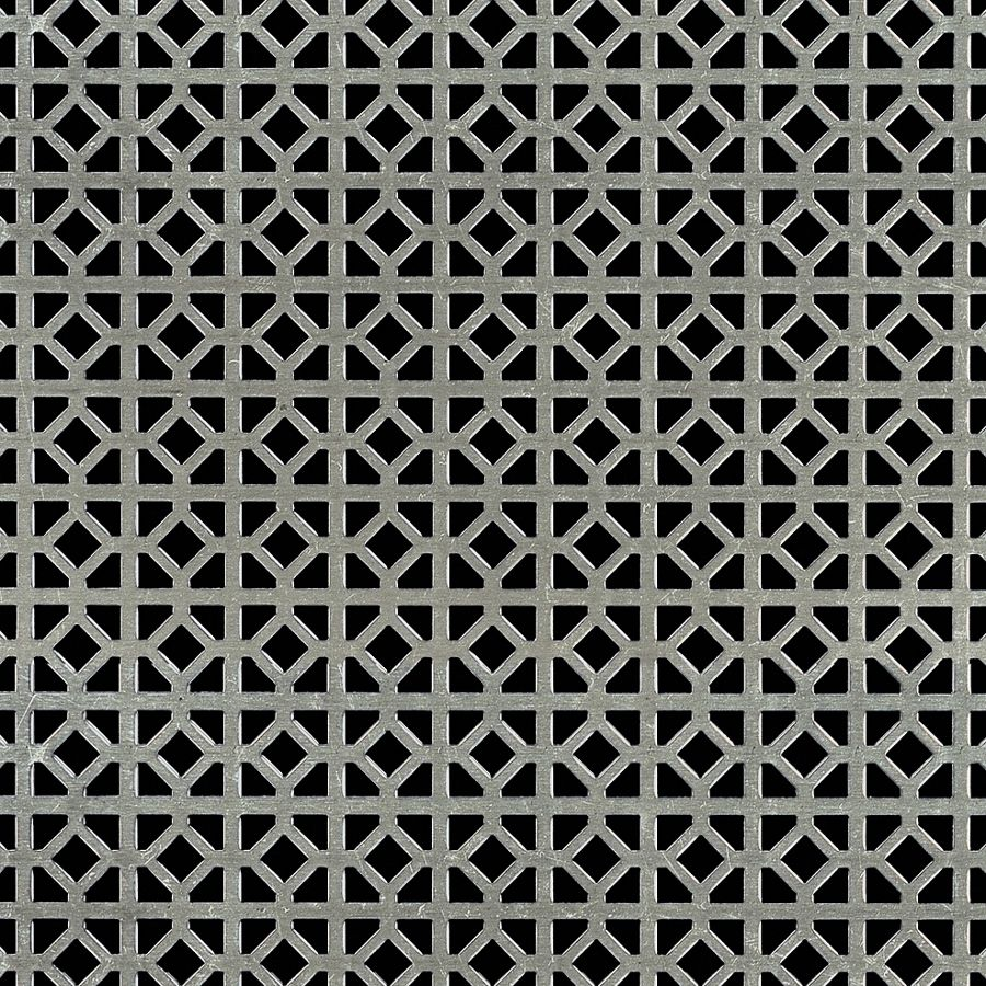 "McNICHOLS® Perforated Metal Designer Perforated, WINDSOR 2045, Carbon Steel, Cold Rolled, 20 Gauge (.0359"" Thick), 5/8"" Square (1/4"" Interior Diamond) on 3/4"" Straight Centers, 45% Open Area"