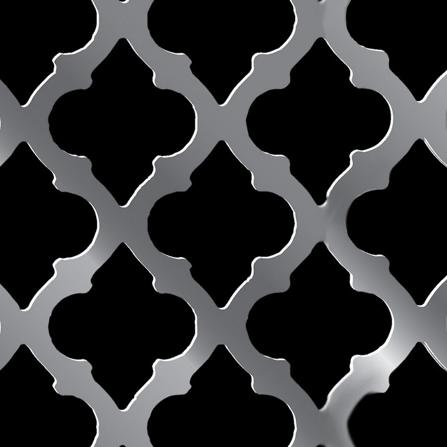 "McNICHOLS® Perforated Metal Designer Perforated, CLASSIC 2058, Carbon Steel, Cold Rolled, 20 Gauge (.0359"" Thick), 1-5/8"" x 1-5/16"" Sea Shell, Staggered Centers, 58% Open Area"