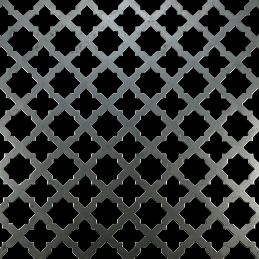 "McNICHOLS® Perforated Metal Designer Perforated, GOTHIC 2058, Carbon Steel, Cold Rolled, 20 Gauge (.0359"" Thick), 1-1/16"" Star (Alternating Pattern), Staggered Centers, 58% Open Area"