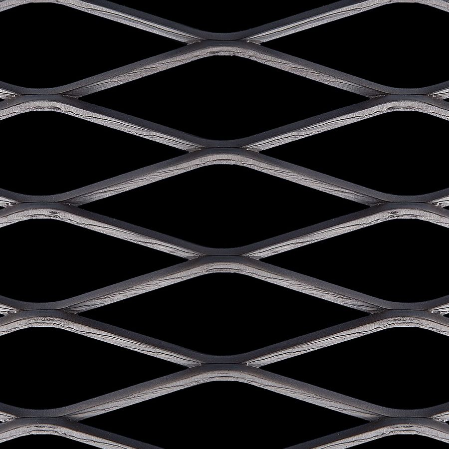 McNICHOLS® Expanded Metal Catwalk Grating, Carbon Steel, HRPO, 3.14# Catwalk Grating (Standard/Raised - Reverse Diamond), 69% Open Area