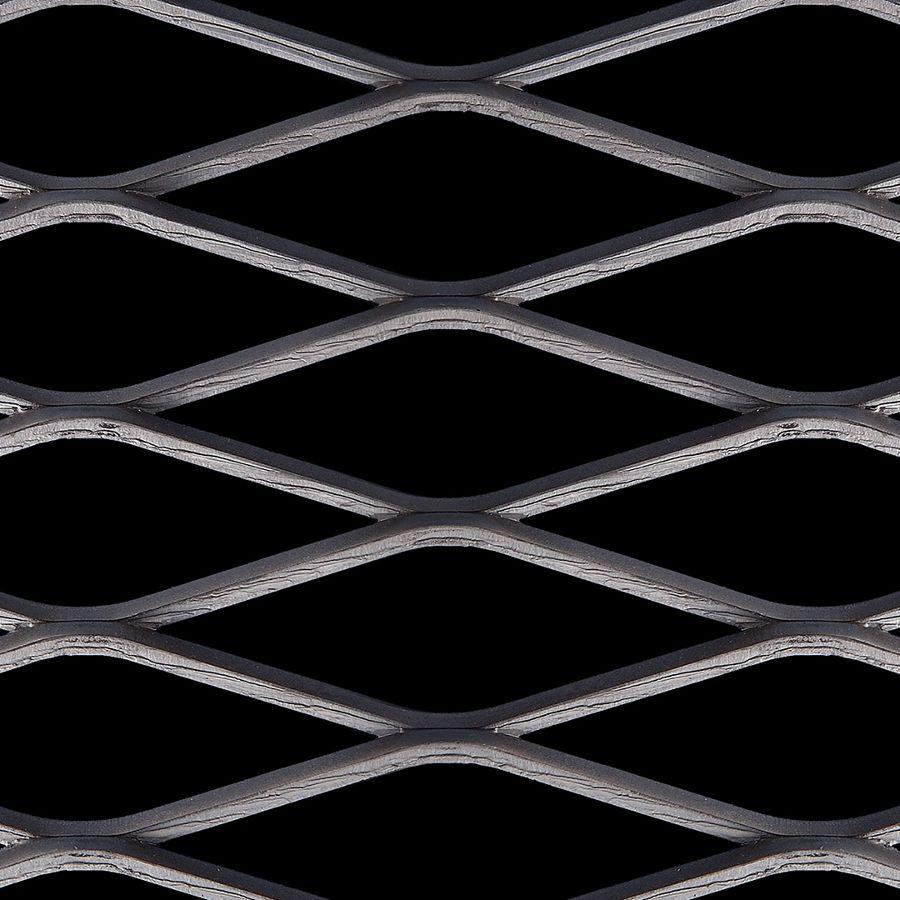 McNICHOLS® Expanded Metal Catwalk, Carbon Steel, HRPO, 3.14# Catwalk (Standard/Raised - Reverse Diamond), 69% Open Area