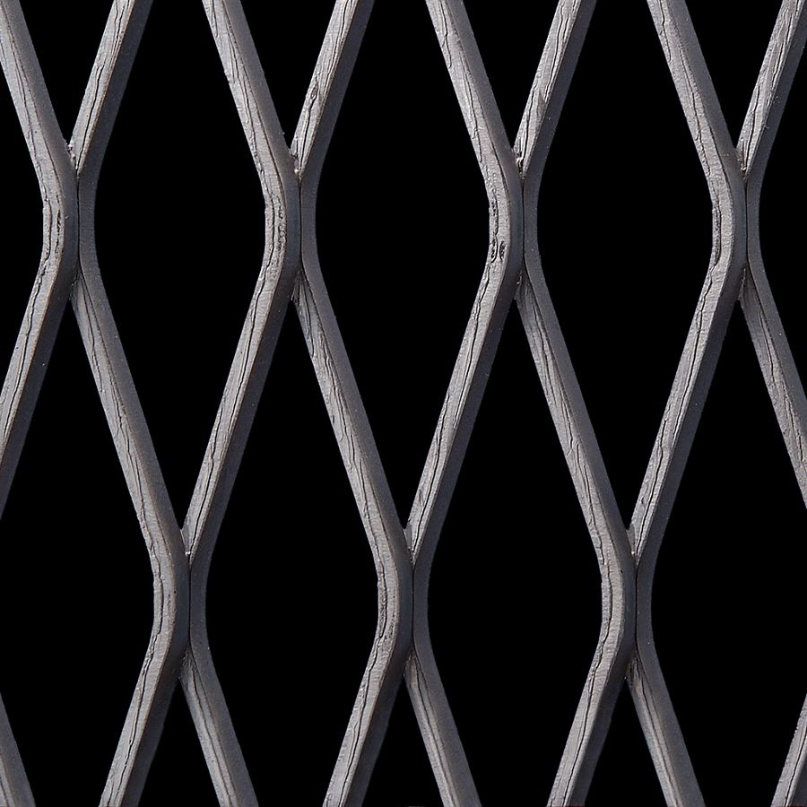 McNICHOLS® Expanded Metal Grating, Carbon Steel, HRPO, 3.14 # Grating (Standard), 69% Open Area
