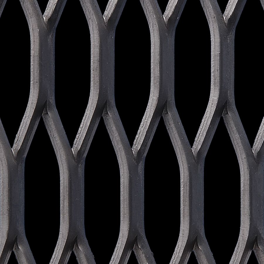 McNICHOLS® Expanded Metal Grating, Carbon Steel, HRPO, 5.00# Grating (Standard/Raised), 50% Open Area