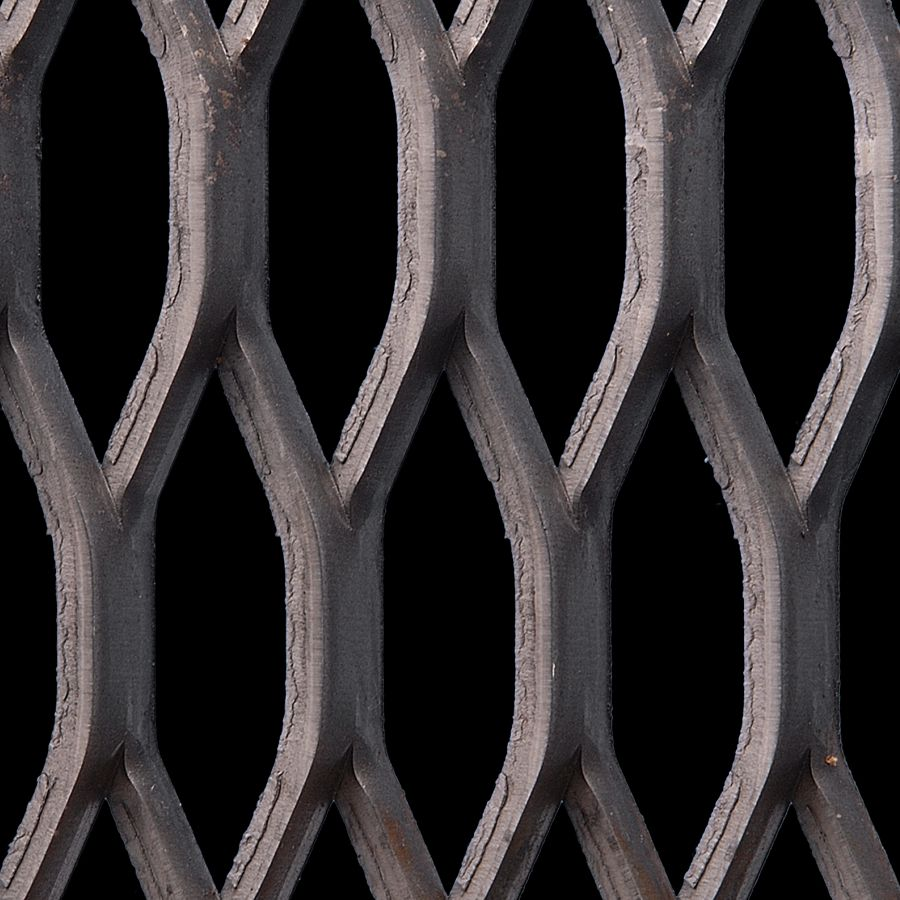 McNICHOLS® Expanded Metal Grating, Carbon Steel, HRPO, 6.25 # Grating (Standard), 50% Open Area