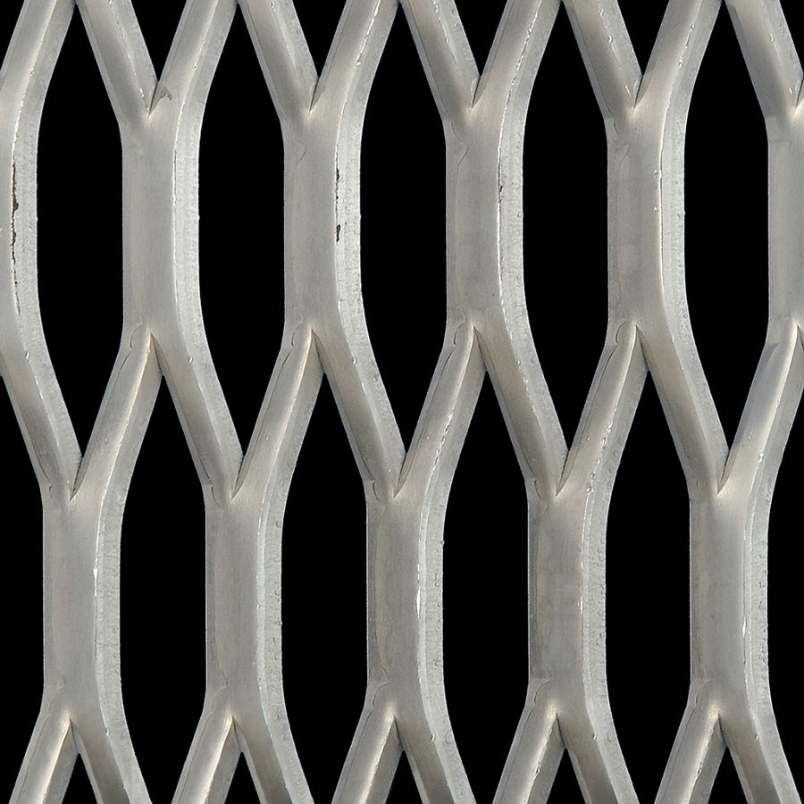 McNICHOLS® Expanded Metal Grating, Aluminum, Alloy 5052-H32, 2.00# Grating (Standard/Raised), 48% Open Area
