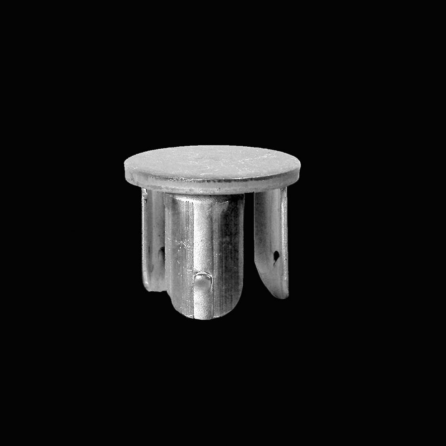 "McNICHOLS® Handrail Components Drive-On, End Cap, Carbon Steel, Hot Rolled, Flat Disk End Cap (3/16"" Height), Fits 1-1/2"" Round Pipe with a 1.900"" Outside Diameter"