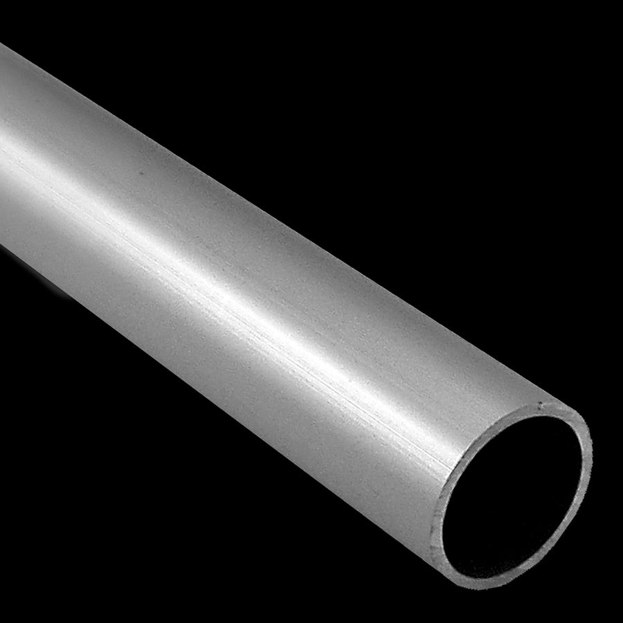 "McNICHOLS® Handrail Components Slip-On, Pipe, Round, Aluminum, Aluminum Alloy, Schedule 40, 1.610"" Inside Diameter, 1-1/2"" Round Pipe with a 1.900"" Outside Diameter"