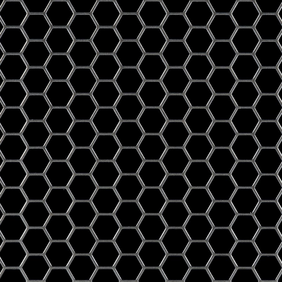 "McNICHOLS® Perforated Metal Hexagonal, Carbon Steel, Cold Rolled, 16 Gauge (.0598"" Thick), 1/2"" Hexagonal on 9/16"" Staggered Centers, 79% Open Area"