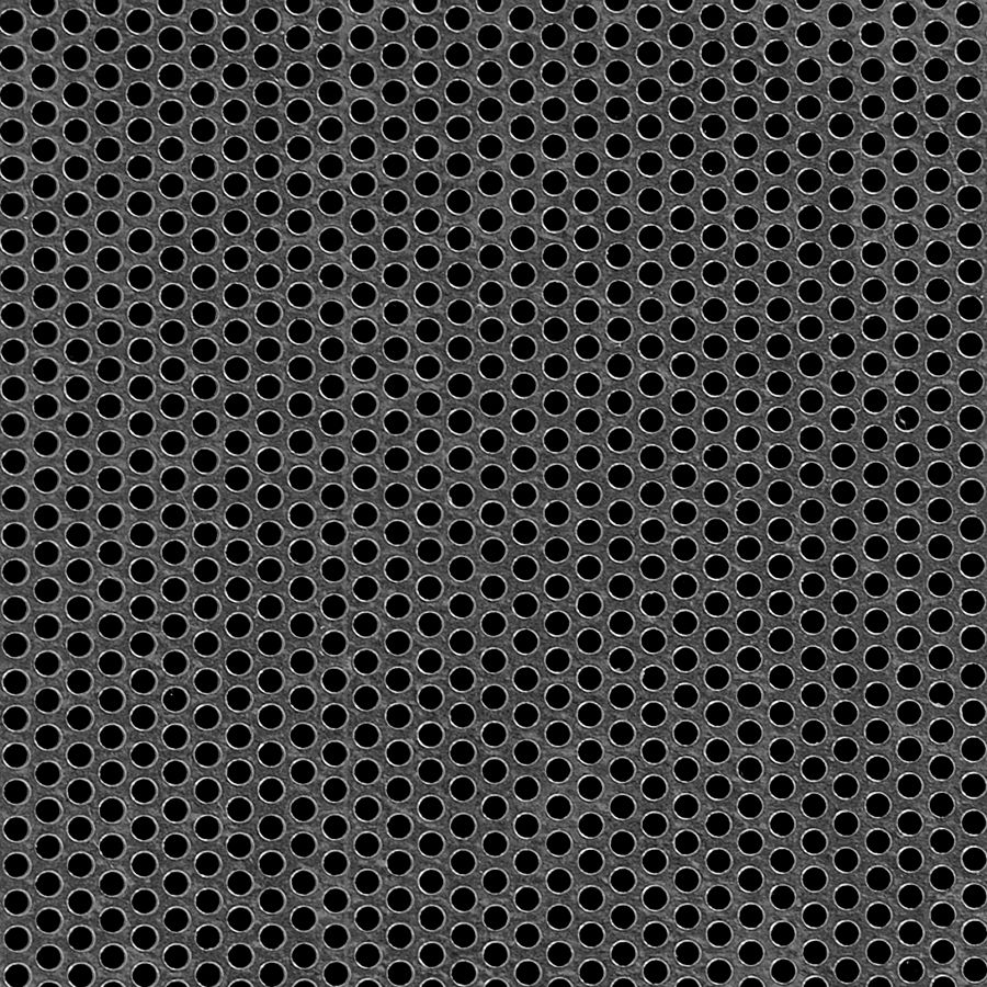 """McNICHOLS® Perforated  Metal Round, Galvanized, G90, 18 Gauge (.0516"""" Thick), 1/8"""" Round on 3/16"""" Staggered Centers, 40% Open Area"""