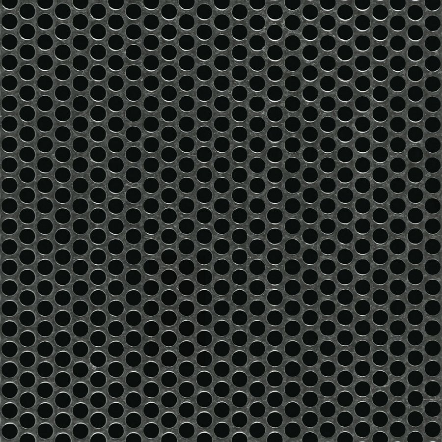 "McNICHOLS® Perforated Metal Round, Galvanized Steel, G90, 16 Gauge (.0635"" Thick), 3/16"" Round on 1/4"" Staggered Centers, 51% Open Area"