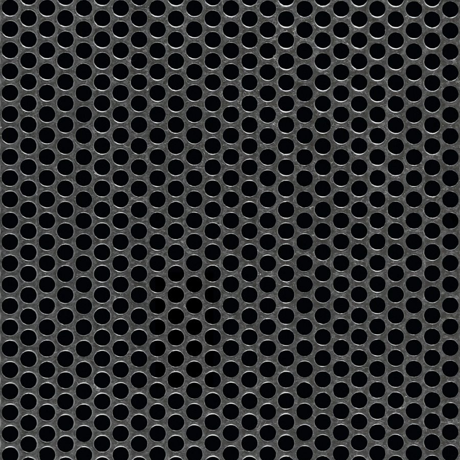 "McNICHOLS® Perforated  Metal Round, Galvanized, G90, 18 Gauge (.0516"" Thick), 3/16"" Round on 1/4"" Staggered Centers, 51% Open Area"