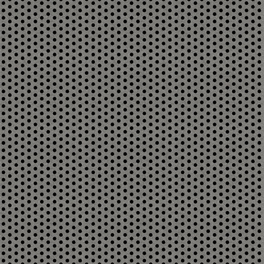 "McNICHOLS® Perforated Metal Round, Galvanized Steel, G90, 20 Gauge (.0396"" Thick), 3/32"" Round on 3/16"" Staggered Centers, 23% Open Area"
