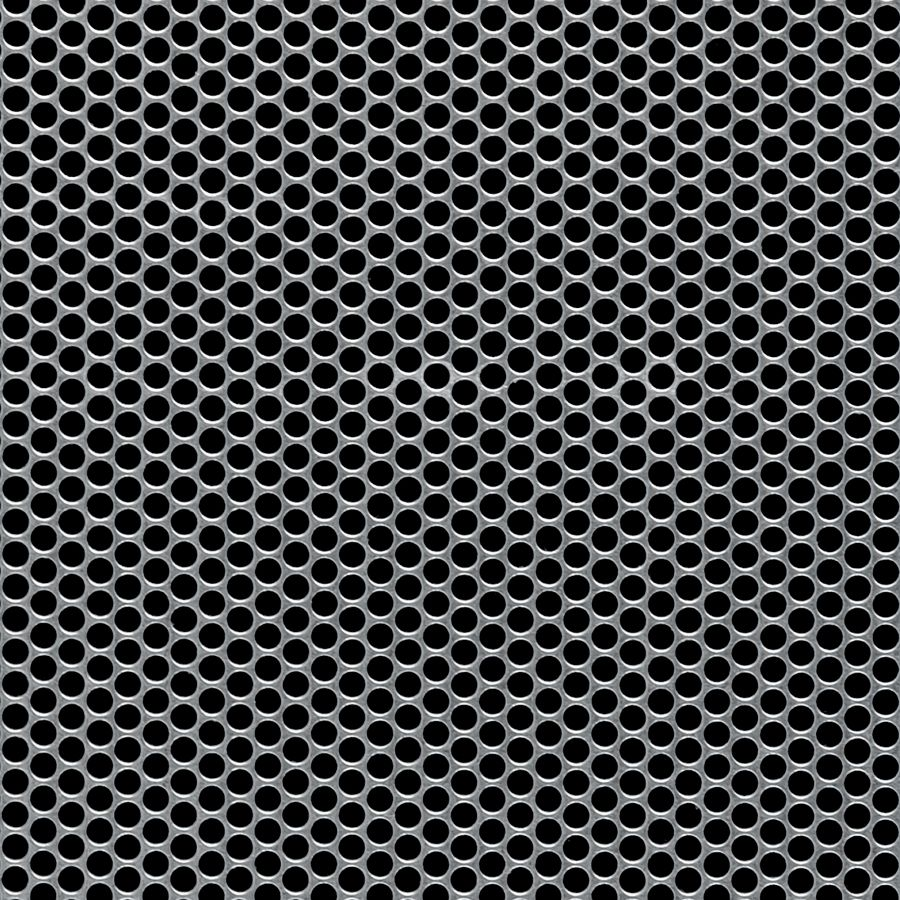 "McNICHOLS® Perforated Metal Round, Galvanized Steel, G90, 22 Gauge (.0336"" Thick), 5/32"" Round on 3/16"" Staggered Centers, 63% Open Area"